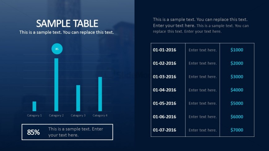 Table And Charts For Business Plan PowerPoint Templates - SlideModel