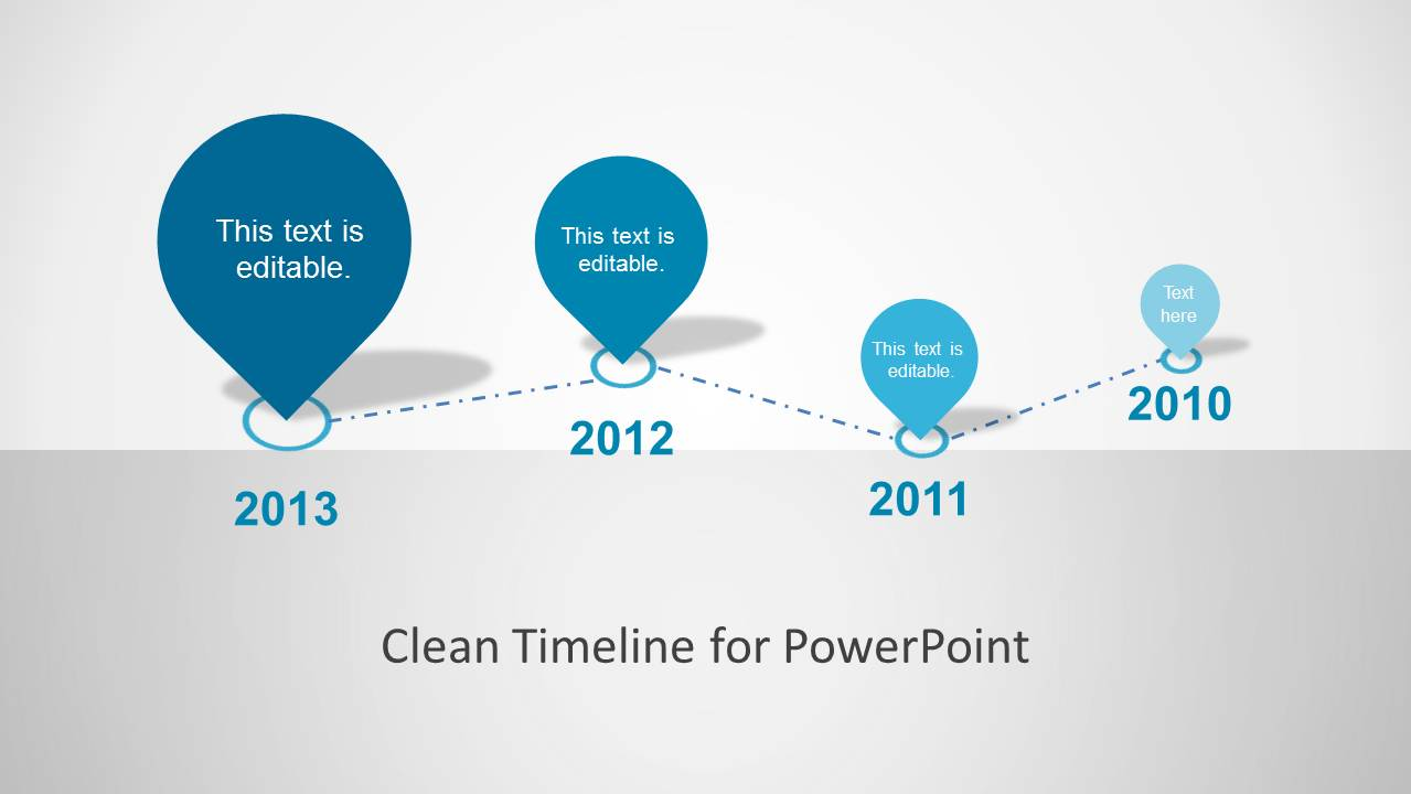 Timeline Design Clean Timeline Template For Powerpoint