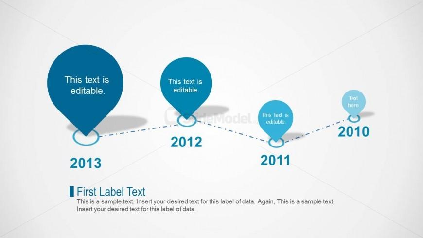 Clean Timeline Slide Design for PowerPoint with Petal Shapes - power point slide designs