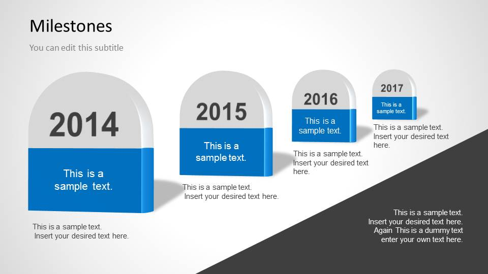Milestones Template for PowerPoint - SlideModel - project milestone template ppt
