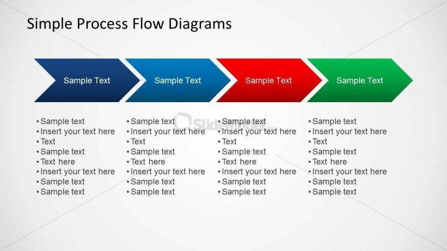 Simple Chevron Diagram for Process Flow Slides - SlideModel