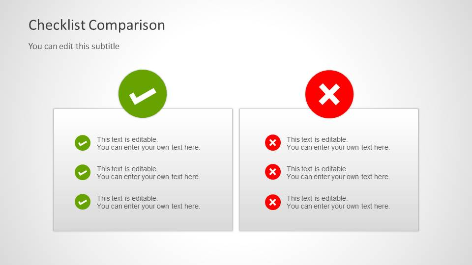 Create A Checklist Powerpoint Template Fppt Checklist Tables For Powerpoint Slidemodel