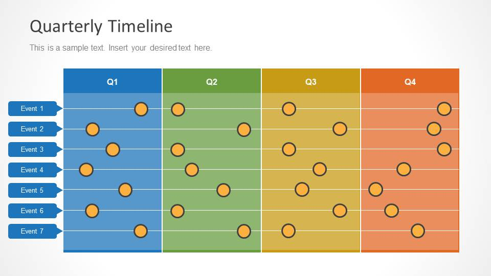 Quarterly Timeline Template for PowerPoint - SlideModel