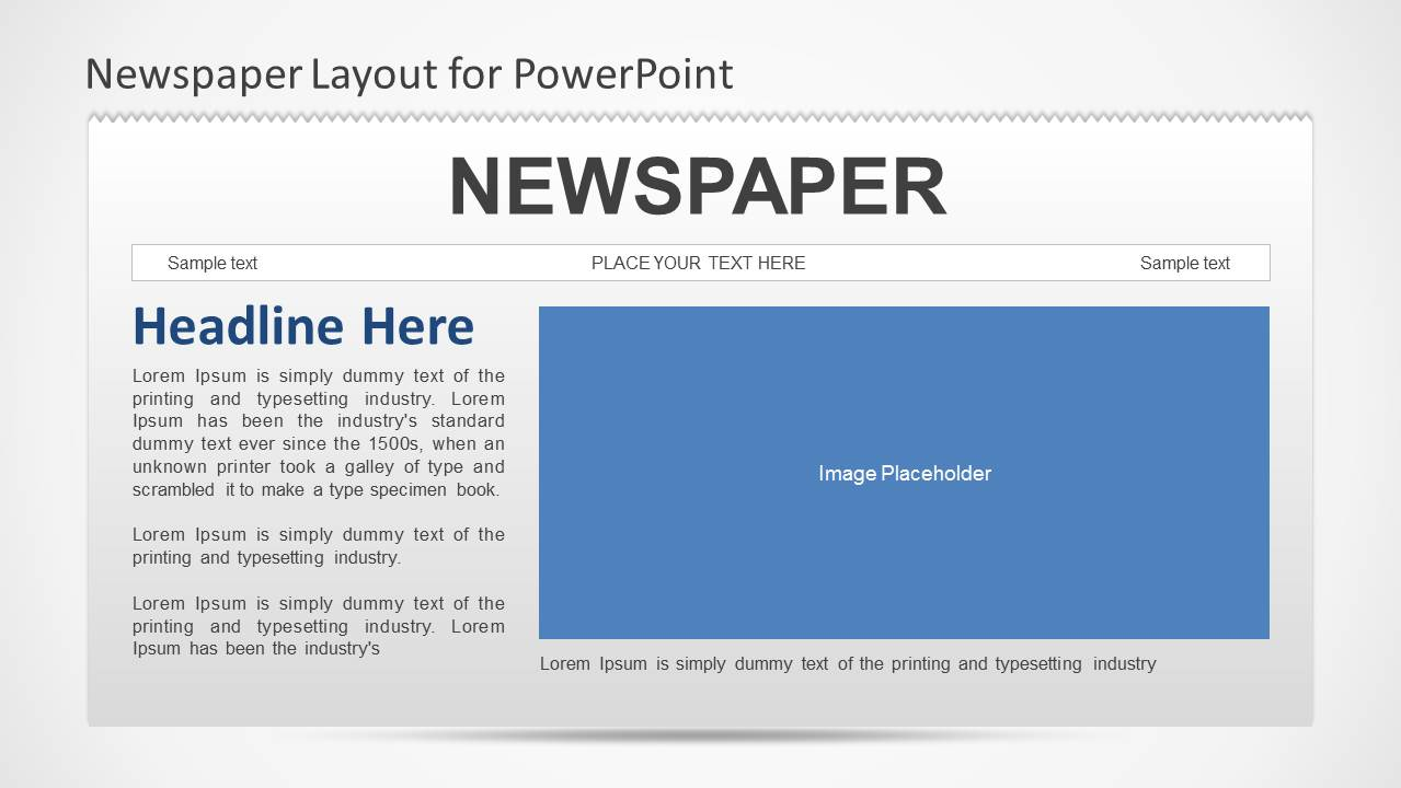 microsoft powerpoint newspaper template