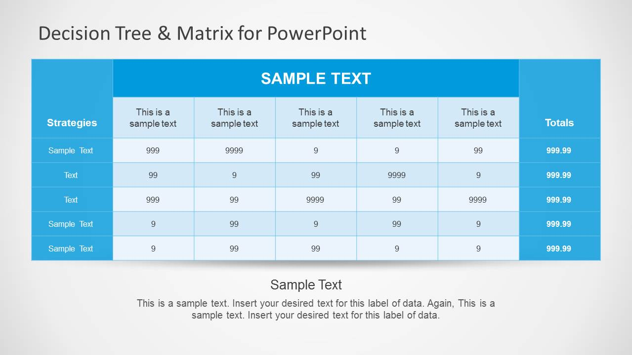 Decision Tree Matrix Template For Powerpoint Slidemodel