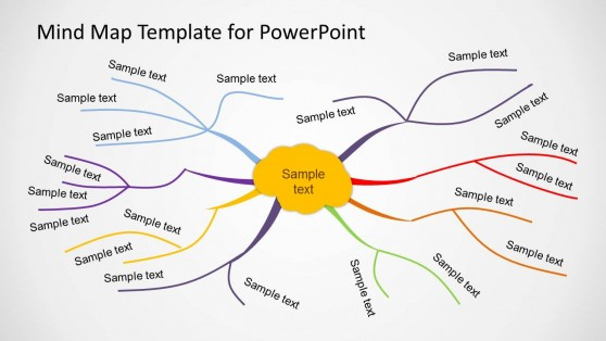 Mind Map Templates for PowerPoint - Map Template