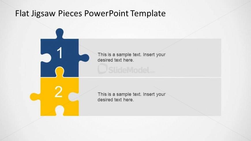 2 Steps Vertical Diagram Jigsaw pieces - SlideModel
