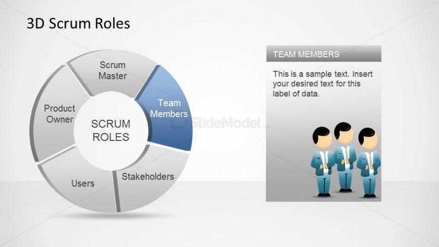 3D Agile Scrum Roles PowerPoint Diagram Team Members - SlideModel