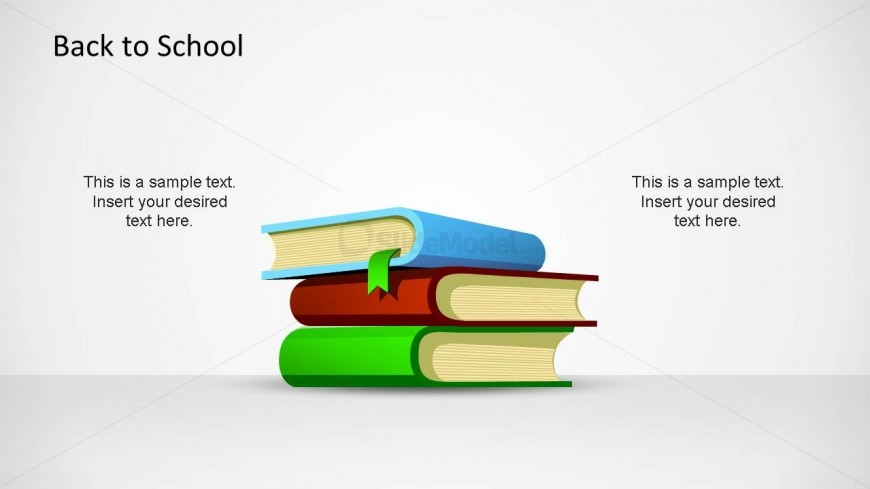 School Reading Books PowerPoint Shapes - SlideModel - Powerpoint Books