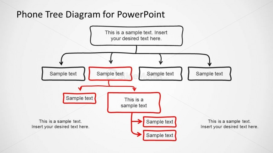 Phone Tree Diagram Slide Design for PowerPoint - SlideModel