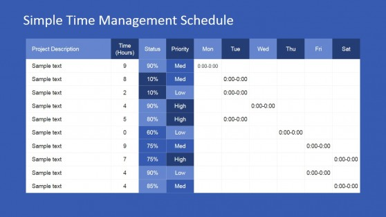 Timetable PowerPoint Templates