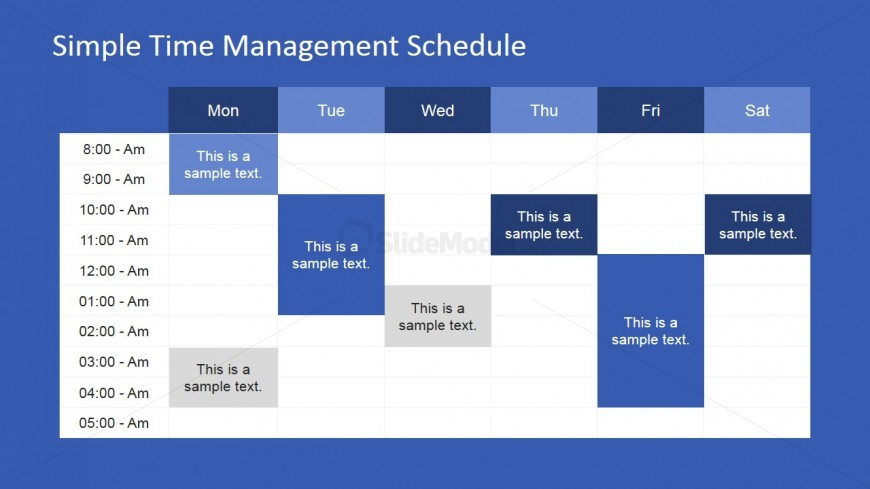 Week Schedule PowerPoint Template - SlideModel