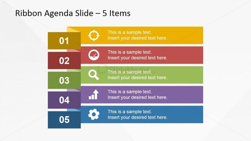 Narrow Ribbon Design for Presentation Agenda Slides - SlideModel
