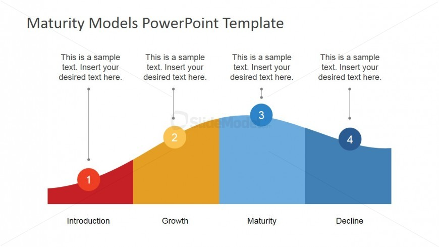 Flat PowerPoint Product Life Cycle Diagram - SlideModel