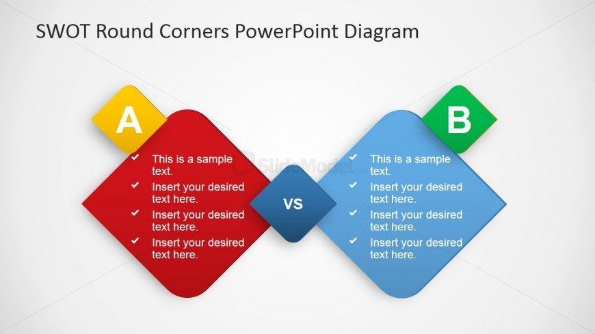 Two Option Comparison PowerPoint Template - SlideModel