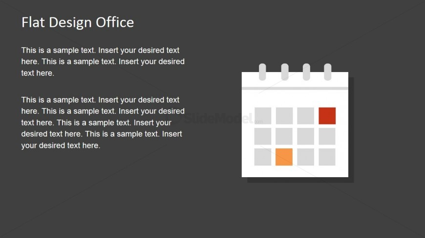 Flat Calendar Shape for PowerPoint - SlideModel - sample power point calendar