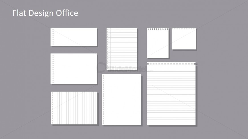 Flat Lined Paper Template for PowerPoint - SlideModel - lined template