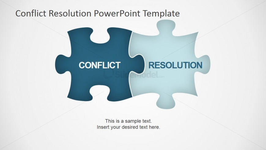 Conflict Resolution Jigsaw Puzzle Shapes for PowerPoint - SlideModel