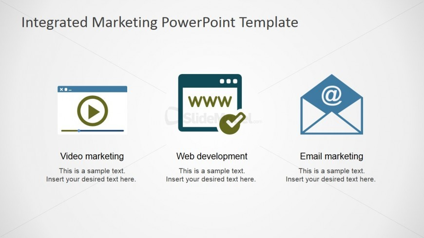Web Development - Video and Email Marketing Clipart for PowerPoint