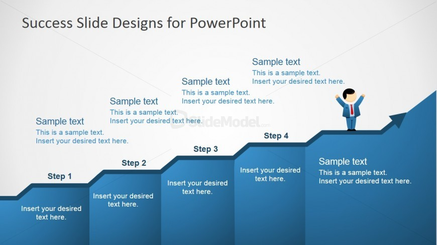 PowerPoint Discrete Growth Chart Template - SlideModel