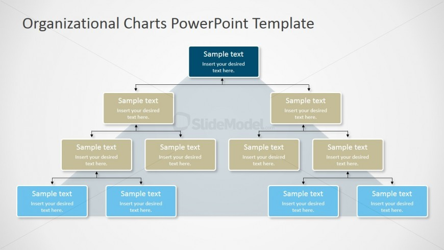 Pyramidal Org Chart for PowerPoint - SlideModel