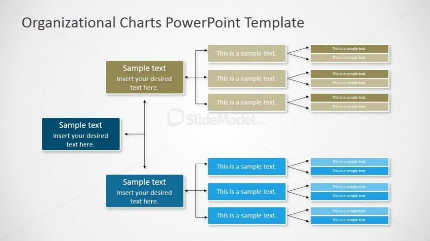 Horizontal Orgchart PowerPoint Diagram - SlideModel