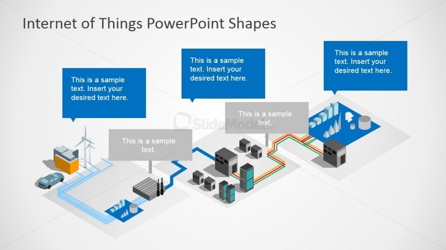 3D Perspective PowerPoint Shapes Internet Of Things - SlideModel