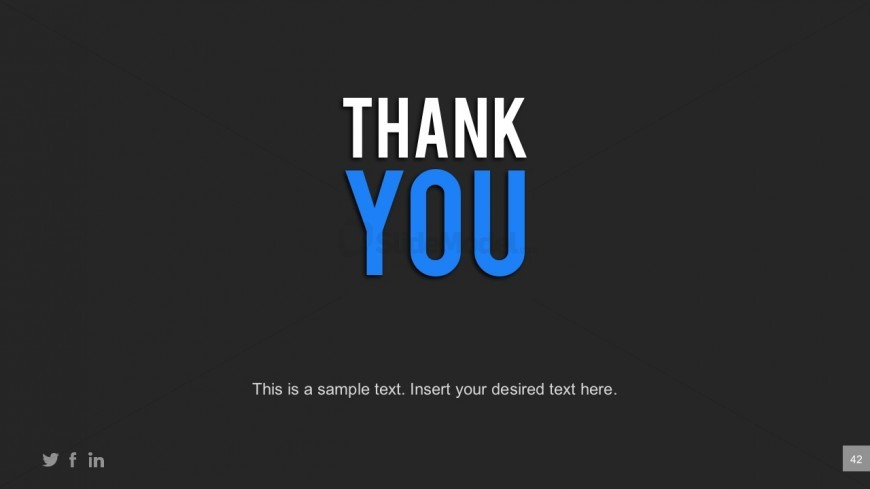 Business PowerPoint Template Thank You Page - SlideModel