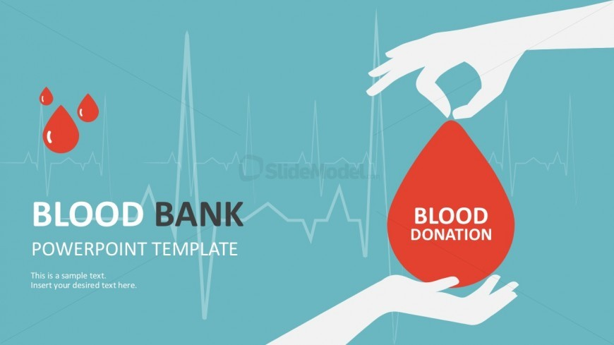 Colorful Blood Bank PowerPoint Template Slides - SlideModel