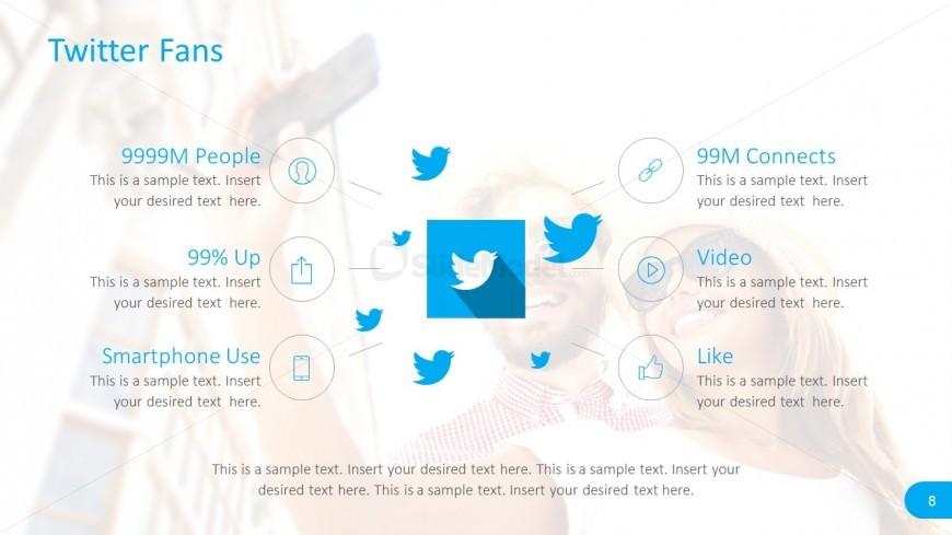 Twitter Social Media Report Template - SlideModel