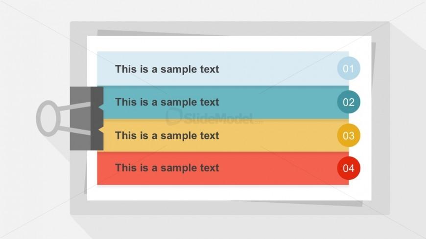 4 Steps Clipboard Design PowerPoint Slides - SlideModel - meeting list template