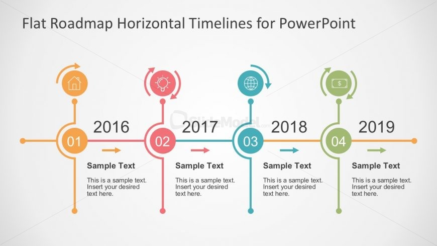 Flat Timeline Slide Presentation in PowerPoint - SlideModel