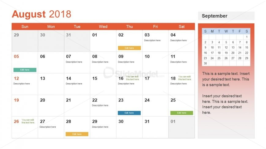 Event Planning Format of Calendar Presentation - SlideModel