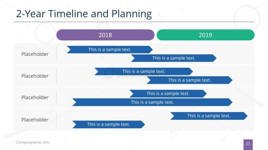 Timeline and Planning Gantt Chart PPT - SlideModel