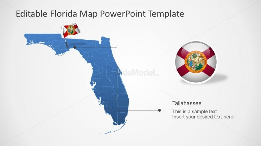 Editable Map of US State PPT - SlideModel