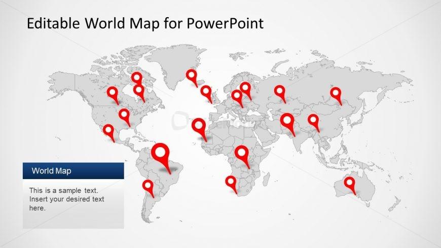 Editable PPT World Map - SlideModel