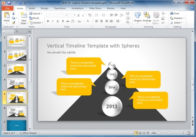 Creative Templates For Gantt Charts  Project Planning in PowerPoint - sample project timeline templates