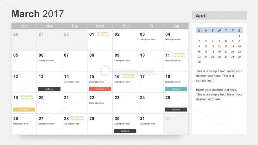 Free Annual Calendar Planner for PowerPoint - SlideModel