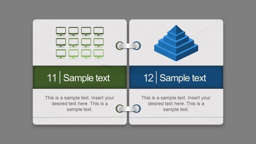 Virtual Index Cards Template - SlideModel