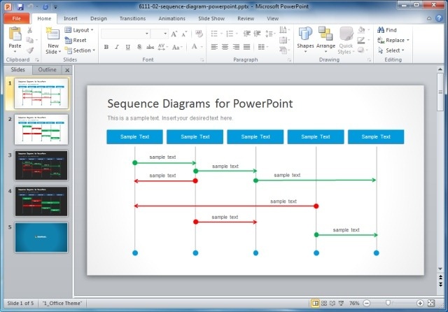 Sequence-Diagrams-Template-For-PowerPointjpg - SlideModel - diagrams template