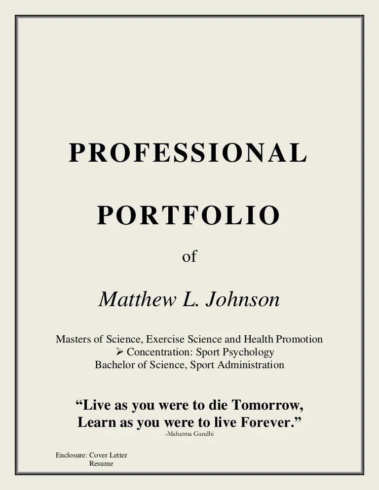 resume portfolio cover page - Josemulinohouse - cover page letter for resume