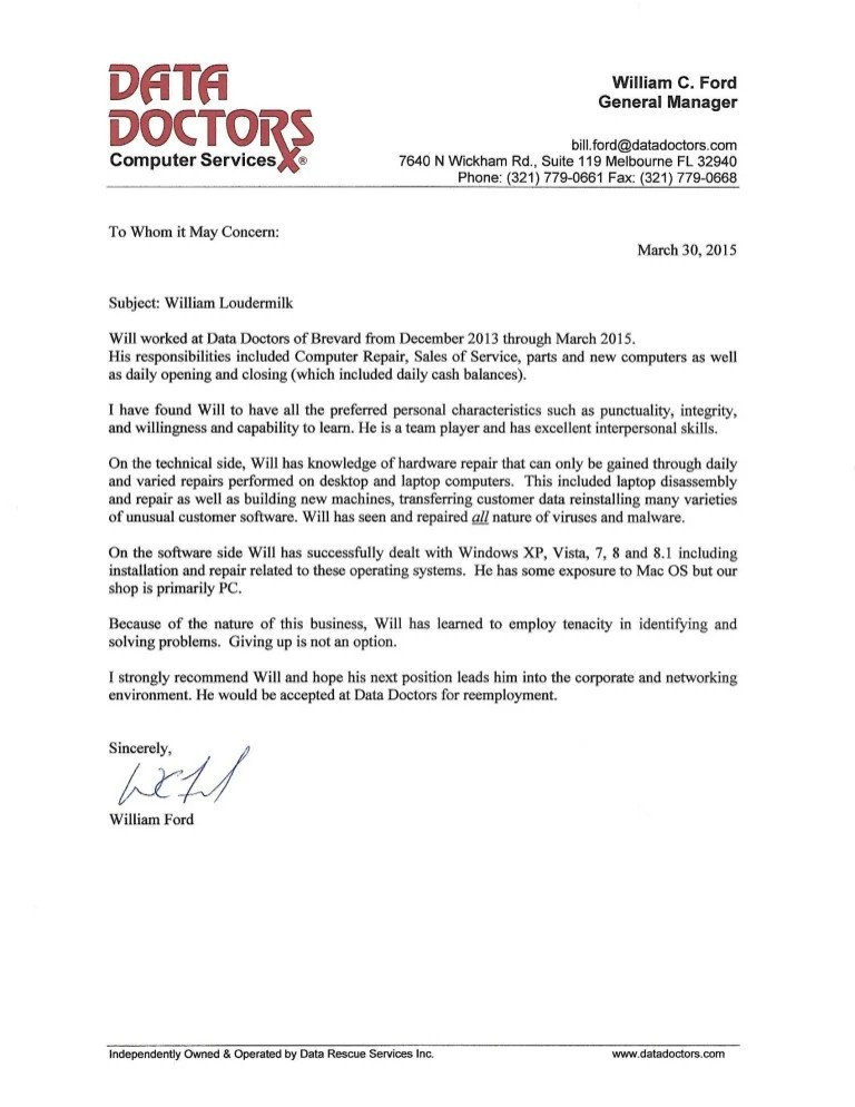 letter of recommendation from physician - Roho4senses