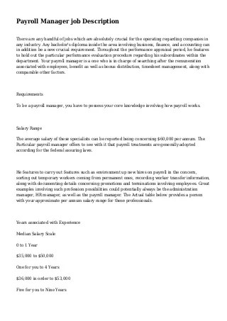 Clinical Medical Assistant Job Description Resume SamplePayroll