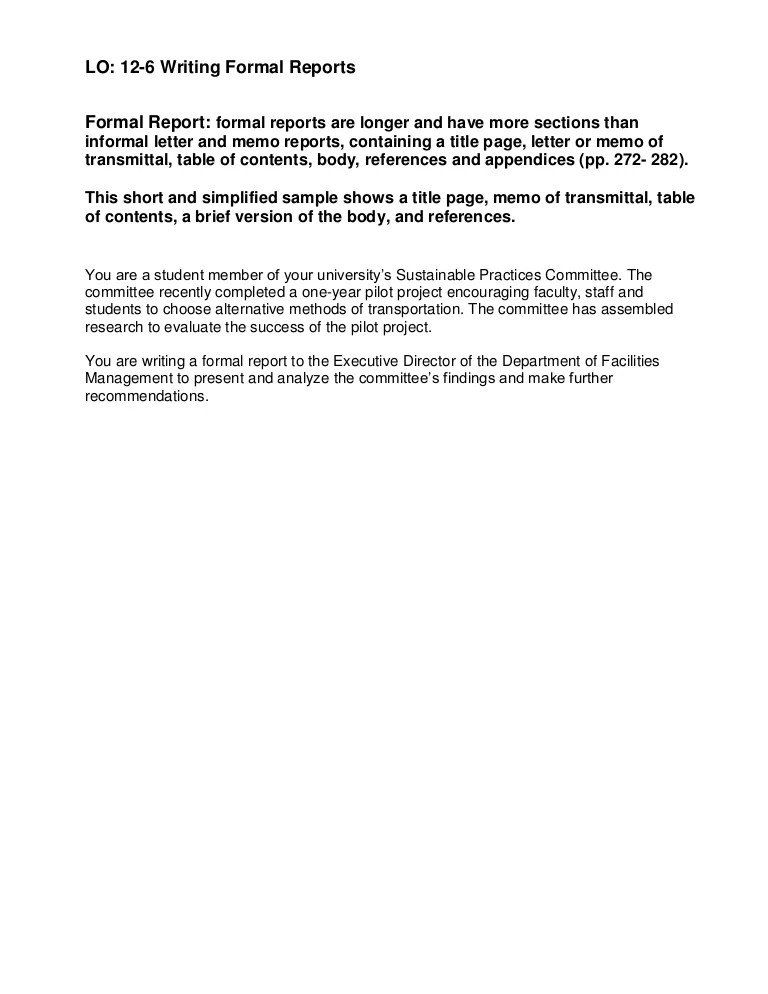 formal report example business - Josemulinohouse