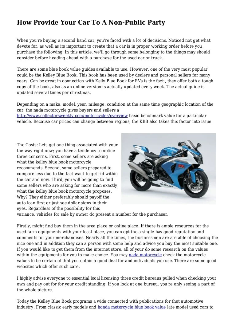 Motorcycle Blue Book Value With Mileage | Carnmotors.com