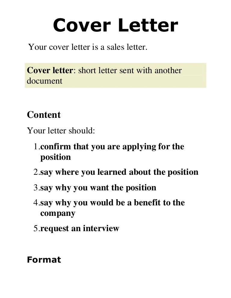 what do i say in a cover letters - Josemulinohouse