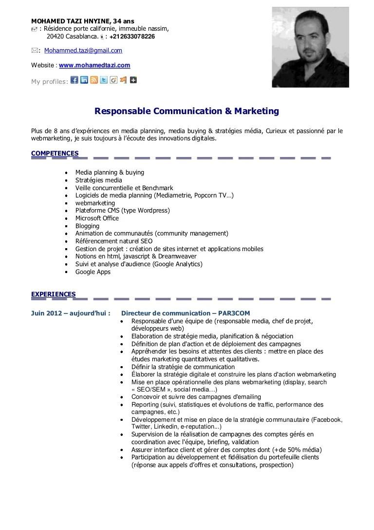 exemple de cv directeur commercial thematique