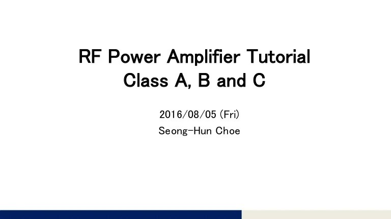 class b power amplifiers