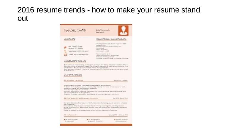 current resume format trends - Muckgreenidesign