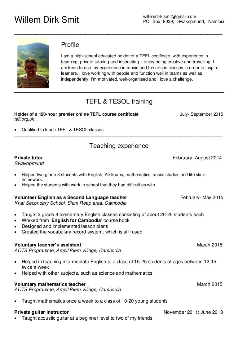 update resume with experience